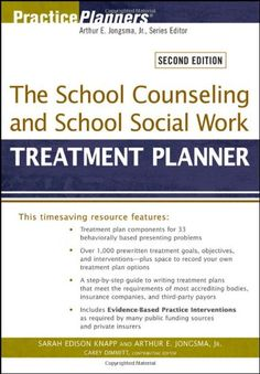 The School Counseling and School Social Work Treatment Planner:Amazon:Books