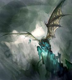 World of Warcraft: Wrath of the Lich King - Frost Wyrm on Cliff
