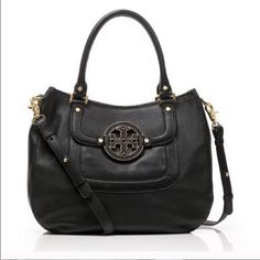 Tory Burch Purse Authentic, leather hobo style purse with gold hard wear, previously owned and used by me. Great condition! Minor pen marks on inside of purse. Tory Burch Bags Hobos