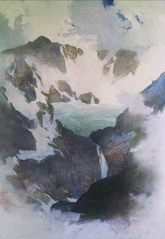 Painter's Process - Randall David Tipton Hanging Glacier