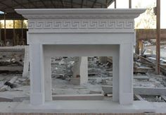 thegatz - Hand Carved White Marble Fireplace Mantel, Greek Key Pattern, Classical Design, $3,300.00 (http://www.thegatz.com/hand-carved-white-marble-fireplace-mantel-greek-key-pattern-classical-design/)