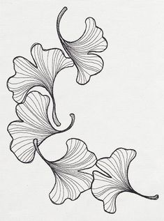 engraved ginkgo urban threads unique and awesome embroidery Silk Ribbon Embroidery, Crewel Embroidery, Machine Embroidery, Flower Embroidery, Paper Embroidery, Embroidery Fashion, Embroidery Designs, Urban Threads, Plant Drawing
