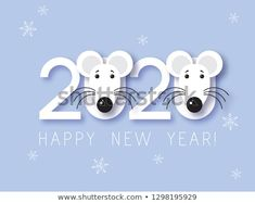 Mouse Chinese new year symbol vector illustration. Happy new year. Mouse Chinese new year symbol vector illustration. Happy new year. New Year's Crafts, Diy And Crafts, Crafts For Kids, Paper Crafts, Happy New Year Gif, Happy New Year Images, Felt Christmas Decorations, New Years Decorations, New Year Symbols