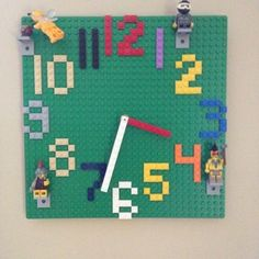 Lego Wall Clock DIY What a cool project to do with a little legohead!
