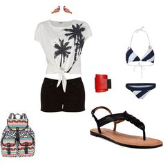 Beach Trip, created by sarahthesloth on Polyvore