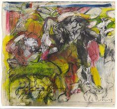 Untitled (Figures in landscape) 1974 by Willem de Kooning