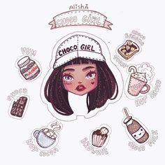 Choco Girl By Alisha~ Character Design Illustration