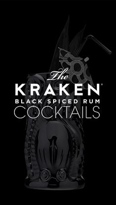 Named for a sea beast of myth and legend, the Kraken Rum is strong, rich black and smooth. Release the Kraken!
