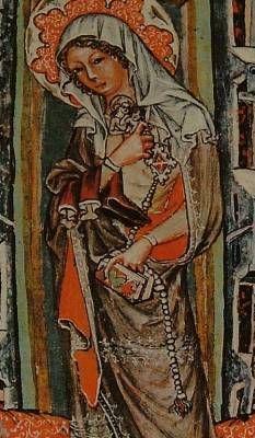 Holy Jadwiga 1353. Broken rosary.
