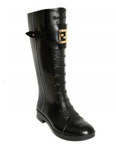 Fendi Logo Rain Boots