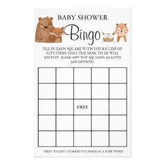 Woodland Baby Shower Bingo game card Baby Bingo, Baby Shower Bingo, Woodland Baby, Woodland Animals, Bingo Games, Card Games, Holiday Cards, Christmas Cards, Baby Shower Invitaciones