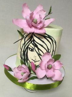 Girl Magnolia - cake by Oksana Kliuiko