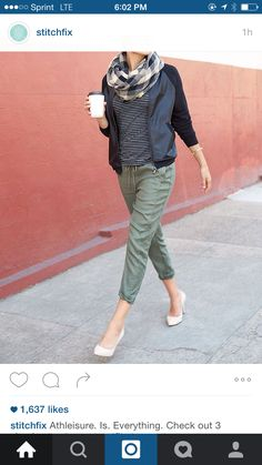 bf54171f228 Athleisure at work  Try pairing a pair of khaki or army green jogger pants  with a draped