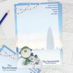 The Snowman and the Snowdog Stationery Set Snowman And The Snowdog, Stationery Set, Christmas, Yule, Xmas, Stationery, Christmas Movies, Noel, Natural Christmas