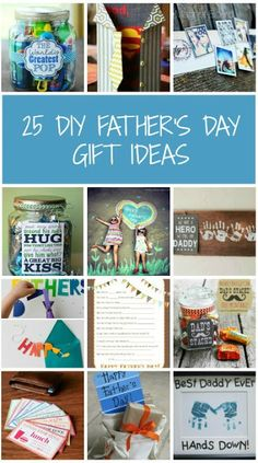 25 DIY Father's Day Gifts - creative ideas for celebrating dad, plus free printables! #fathersday