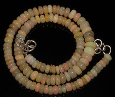 """63 Crts 1 Strands 5 to 7 mm 13""""Beads necklace Ethiopian Welo Fire Opal  AA++1041"""