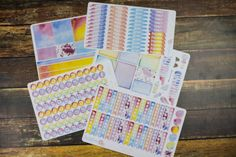 Watercolor #planner kit, hand painted, Erin Condren #planneraddict #watercolor