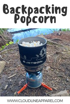 Making backpacking popcorn in a backpacking stove is an amazon treat after a long day of hiking.