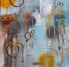 Kunstsamlingen   Artist: Nina Hansen   Title: 'No name 3'   Height: 40cm,  Width: 40cm   Find it at kunstsamlingen.dk
