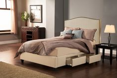 Seahawk Designs Newport Four-Drawer King Bed in Wheat 42601