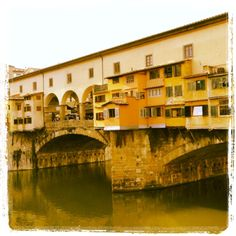 Ponte Vecchio - Río Arno - Italia |Pinned from PinTo for iPad|