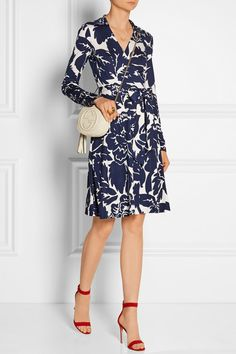 Diane von Furstenberg wrap dress - someday I'll have one. High Fashion, Womens Fashion, Printed Silk, Dress Up, Style Inspiration, Closet, Clothes For Women, Stylish, My Style