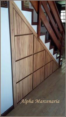 This is also true for that basement stairs. Under Stairs Cupboard Storage, Under Stairs Nook, Closet Under Stairs, Staircase Storage, Basement Stairs, Stair Storage, Staircase Design, Stairs In Living Room, House Stairs