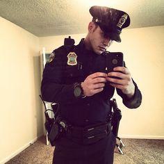 Cops like taking selfies too