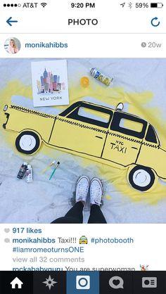 Taxi photobooth prop