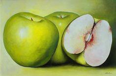 Apple Painting, Ceramic Painting, Fruits Drawing, Fruits Photos, Gcse Art, Fruit Art, Acrylic Art, Hobbies And Crafts, Still Life