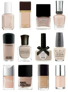 Nude nails<3! i love nude nail color