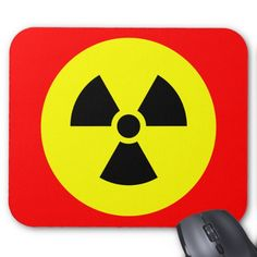 #zazzle #Radiation #Sign #Mousepad #office #home #travel #gift #giftidea #red #yellow €black