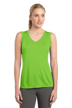 Ladies Sleeveless Competitor™ V-Neck Tee -  sweat-wicking, breathable tees with greater freedom of movement
