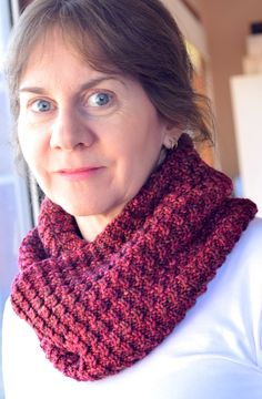 Chilly nights spent in front of a blazing wood fire with its crackled wood and twisted flames inspired this comfy cowl.