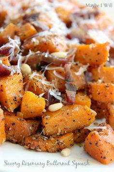Rosemary Roasted Butternut Squash with Butter Flavored Olive Oil