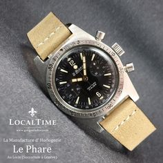 1960's LE PHARE [Le Locle, Suisse] 38mm Stainless Steel Chronograph With Landeron Cal. 154