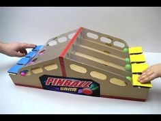 How to make Pinball game from cardboard Board Game Pinball for two players – Juegos Adolescentes Flipper, Cardboard Crafts, Paper Crafts, Diy For Kids, Crafts For Kids, Indoor Games, Carnival Games, Diy Games, Wood Toys