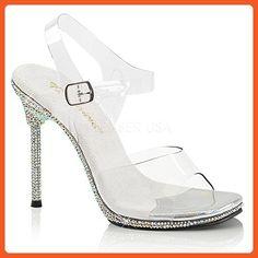 83678916ff 4 Heel, Platform Ankle Strap Sandal Featuring Rhinestones Encrusted on the  Entire Bottom