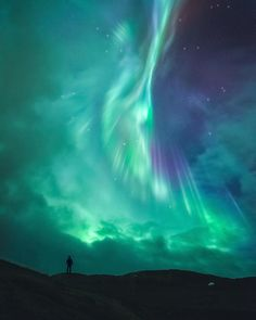"""birdsonqs: """"by Tor-Ivar Næss """" Aurora hits in the only opening in a sky filled with clouds seen at Kvænangsfjellet in Kvænangen, Troms Norway Image Nature, All Nature, Nature Photos, Beautiful Sky, Beautiful Landscapes, Beautiful Places, Aurora Borealis, Northen Lights, To Infinity And Beyond"""
