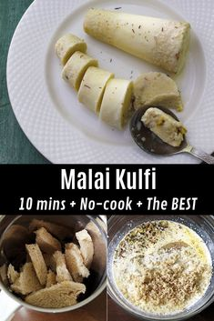 Instant, no cook kulfi recipe with step by step photos – this malai kulfi is t. Kulfi Recipe Condensed Milk, Condensed Milk Recipes, Indian Dessert Recipes, Indian Recipes, Indian Sweets, African Recipes, Snack Recipes, Snacks, Healthy Recipes