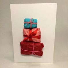 Pakettikortti. lasten | askartelu | joulu | joulukortit | käsityöt | koti | DIY ideas | kid crafts | christmas | home | cards | Pikku Kakkonen