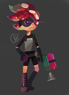 Octoling Boy by miaokep on DeviantArt - This is the best octoling boy design i have ever seen