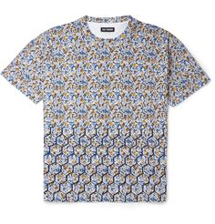 Raf Simons Flower and Fence-Print Cotton-Jersey T-Shirt | MR PORTER