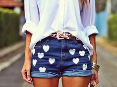 short customizado de pedrarias   Modelos de Shorts Customizados - Fotos - FAKES LANDIA ®