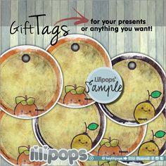 Lilipops - Gift Tags - Printable Tags - Printable - Kawaii - Instant Download…