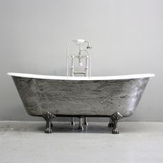 The Colchester Vintage Designer Burnished Clawfoot Cast Iron French Bateau Tub Package from Penhaglion Bathtubs For Sale, Best Bathtubs, Cast Iron Bathtub, Freestanding Tub Filler, French Bathroom, Vintage Tub, Clawfoot Bathtub, Vintage Designs, It Cast