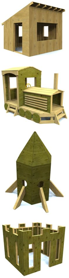 12 Free Playhouse plans you can build! Perfect for any DIYer who wants to build their child a playhouse or playset of their own. Download for free today! #WoodworkingProjects