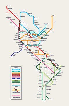 World metro map canvas print canvas art by michael tompsett americas metro map digital art by michael tompsett americas metro map fine art prints and posters for sale gumiabroncs Images
