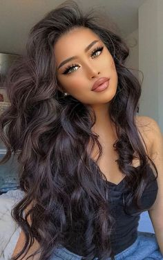 Brunette Beauty, Hair Beauty, Hair Icon, Beautiful Lips, Beautiful Women Pictures, Everyday Hairstyles, Love Hair, Hair Today, Beauty Women