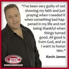 Kevin James...this is pretty awesome...I agree with him completely, and it is so nice to hear him say this out loud.